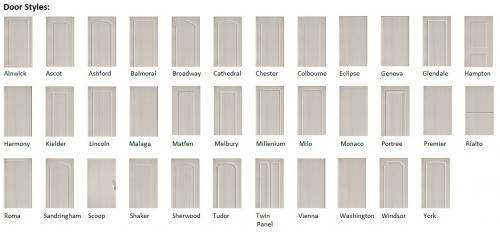 Harrison & Fletcher - Vinyl Bedroom Door Styles