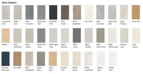 Harrison & Fletcher - Vinyl Classic kitchen Door Colours
