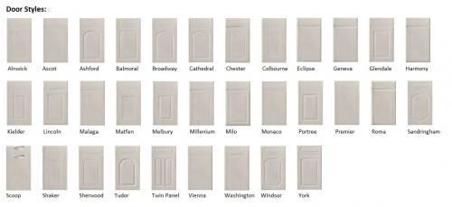 Harrison & Fletcher - Vinyl Modern Kitchen Door Styles